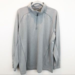 Slazenger Gray Quarter Zip Long Sleeve Golf Shirt